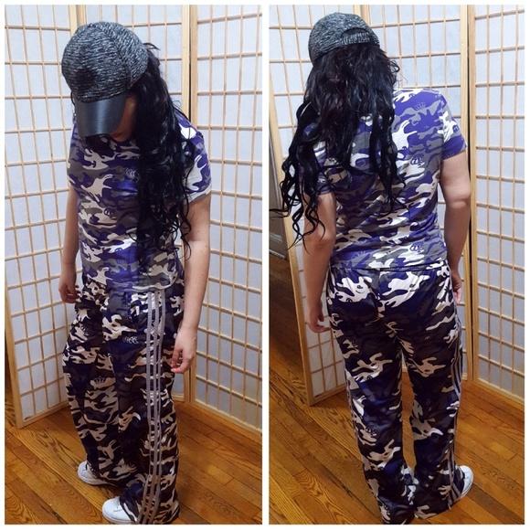 23c2caa44cb adidas Pants - Adidas Missy Elliot Purple Camo Set L